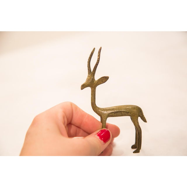 African Vintage Bronze Gazelle Figurine / Ashanti Gold Weight For Sale - Image 3 of 7