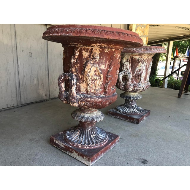 Late 18th Early 19th Century Italian Terra Cotta Urns - A Pair For Sale - Image 6 of 13