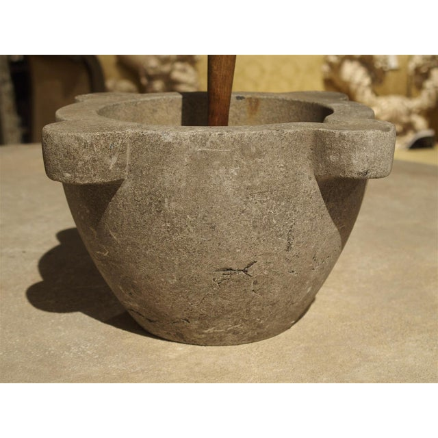 Late 19th Century 19th Century Stone Mortar and Pestle from France For Sale - Image 5 of 6