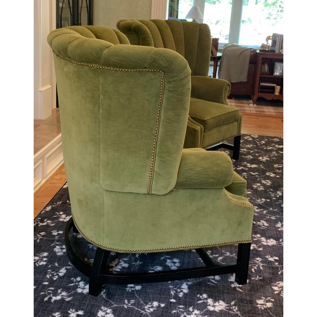 Georgian Century Furniture Artesia Wingback Chairs- A Pair For Sale - Image 3 of 13