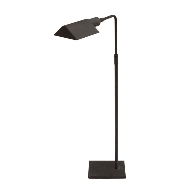 Koch + Lowy floor lamp in a classic decorator shape but with a more modern grey coated finish. Fully adjustable;...