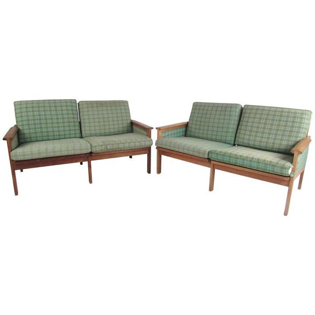 "Illum Wikkelsø for N. Eilersen A/S Mid-Century Modern ""Capella"" Settees - A Pair For Sale - Image 11 of 11"