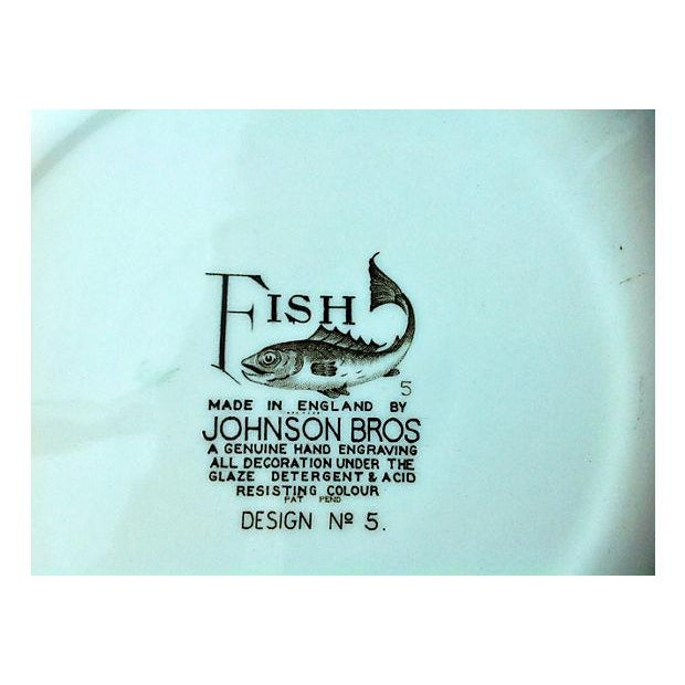 English Fish Plates - Set of 8 For Sale - Image 5 of 5