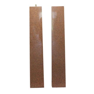 Mid 20th Century Granite Column Pillasters-a Pair For Sale