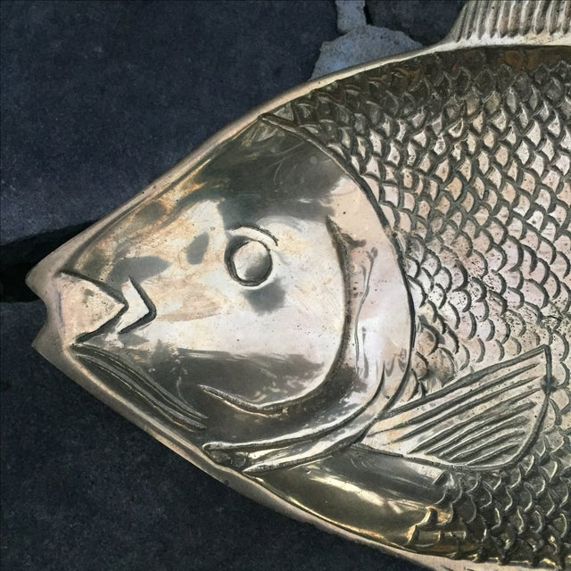 Vintage Brass Fish Dish - Image 4 of 8