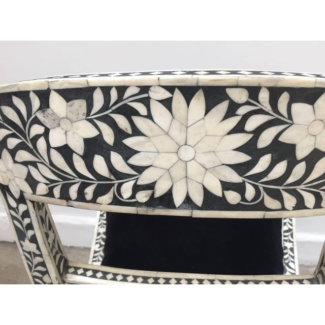 Vintage Mid Century Anglo-Indian Bone Inlaid Side Chairs With Ram's Head- a Pair For Sale In Los Angeles - Image 6 of 11