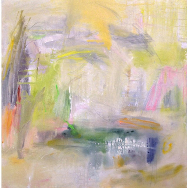 """Misty Morning"" by Trixie Pitts Abstract Expressionist Painting For Sale"