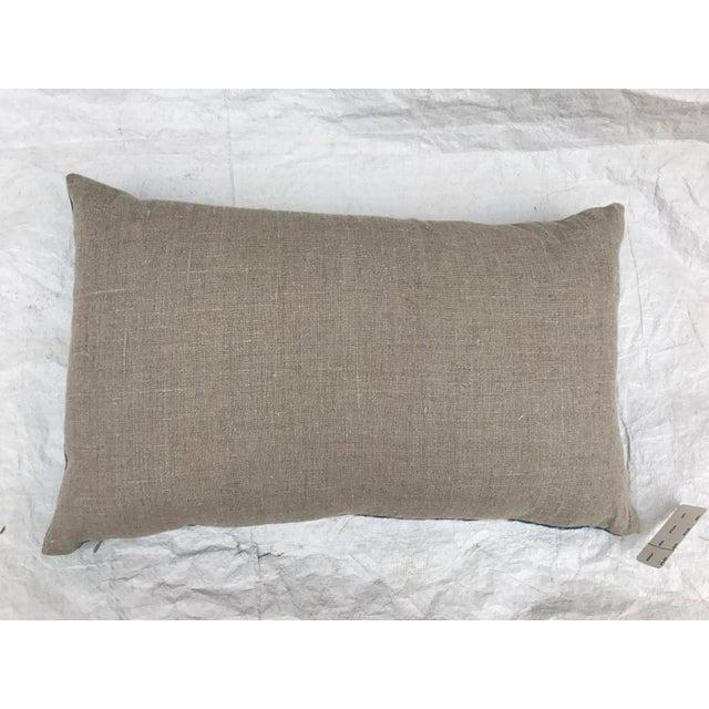 African Indigo Faded Tye-Dye Fringe Pillows - A Pair - Image 7 of 10