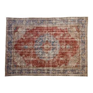 """Vintage Distressed Sivas Carpet - 7'6"""" X 10'4"""" For Sale"""