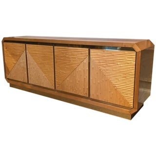 1970s Split Bamboo Sideboard