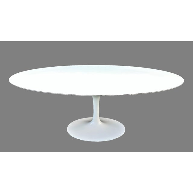 Vintage Eero Saarinen for Knoll Tulip Dining Set - 7 Pieces For Sale - Image 9 of 13