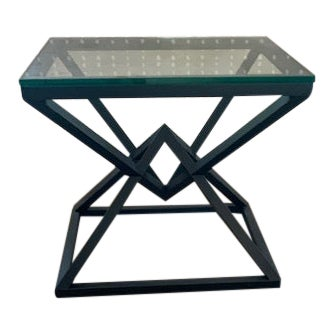 Empire Restoration Hardware Steel Side Table