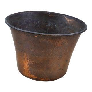 Vintage Hand Hammered Rolled Rim Copper Bowl
