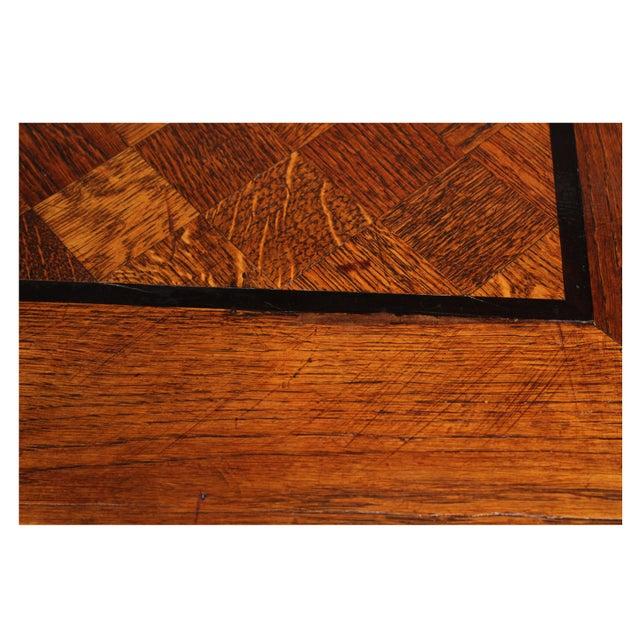 1920s Marquetry Tudor-Style Dining Table For Sale - Image 10 of 10