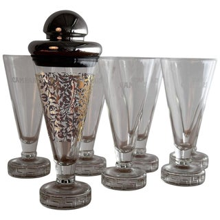 Limited Edition 1986 Cocktail Shaker with Six Glasses by Matteo Thun For Sale