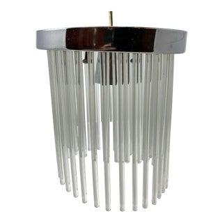 Scolari Hanging Crystal Rod Chandelier/Hall Light For Sale