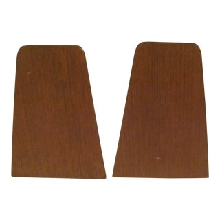 Danish Modern Style Teak Bookends by Viking of Japan - a Pair For Sale
