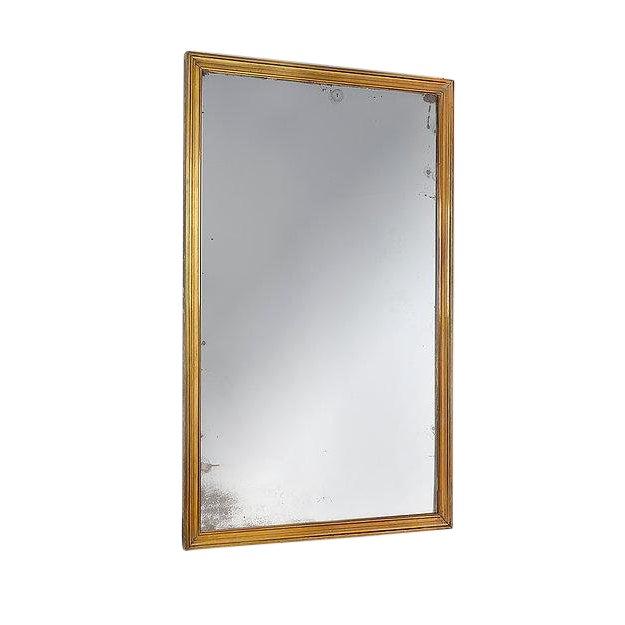 Art Deco Fine Quality Art Deco Brass Brasserie Mirror For Sale - Image 3 of 4
