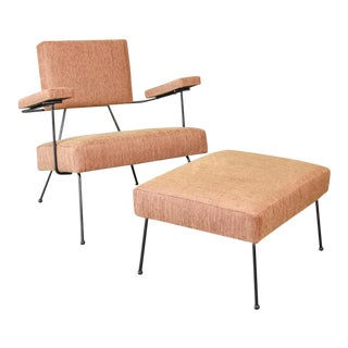Adrian Pearsall 104-C Iron Lounge Chair and Ottoman