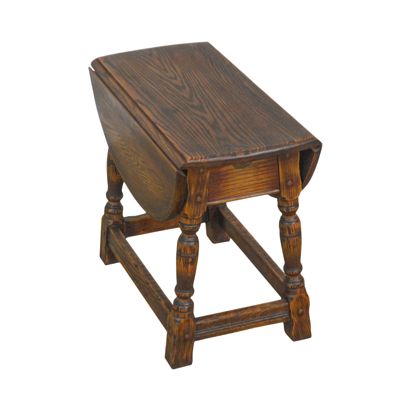 Feudal Oak Jamestown Lounge Vintage Drop Leaf Side Table