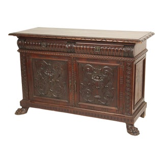 Late 19th Century Continental Baroque Style Credenza For Sale
