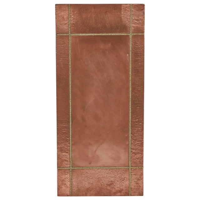 1940s Mid Century French Copper and Brass Panel For Sale - Image 5 of 5
