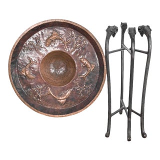 Turn of the Century Indian Copper Tray Table For Sale