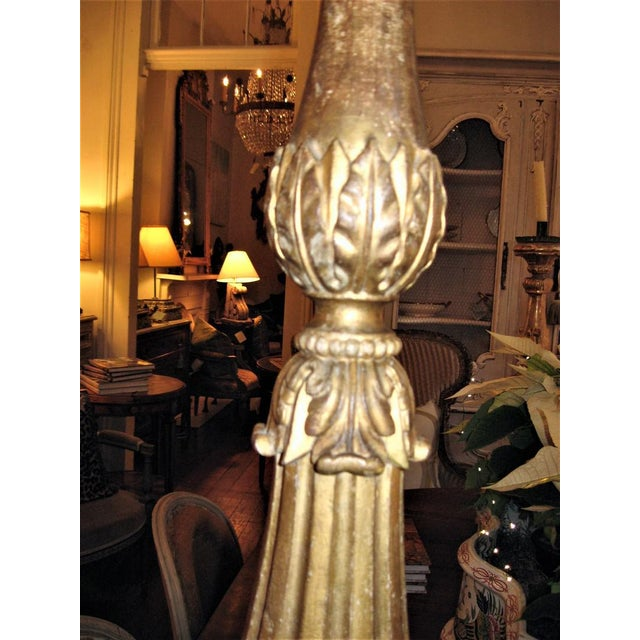 19th Century Gilt Wood Candlestick For Sale - Image 5 of 10