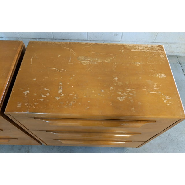 1960s Danish Modern Maple Dressers - a Pair For Sale - Image 10 of 12