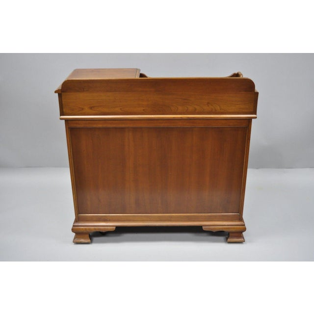 Pennsylvania House Solid Cherry Wood Colonial Drysink Dry Sink Cabinet Server For Sale - Image 10 of 12