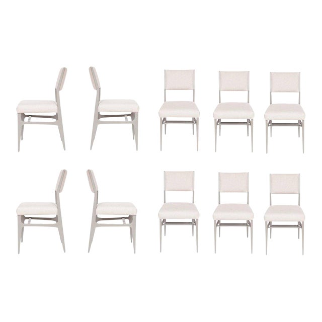 Not Yet Made - Made To Order Maze Lacquered Dining Chairs - Set of 10 For Sale - Image 5 of 5
