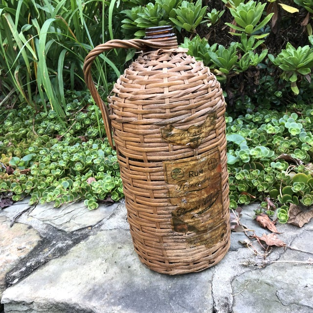 1920s Boho Chic Demijohn Wrapped Rum Jug For Sale - Image 10 of 10