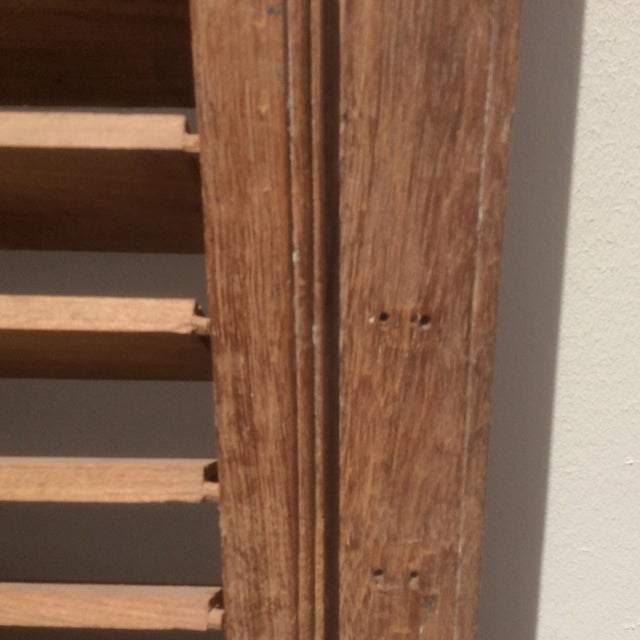 1900s Pair of Heavy Rustic Antique Wood Shutters For Sale - Image 5 of 9