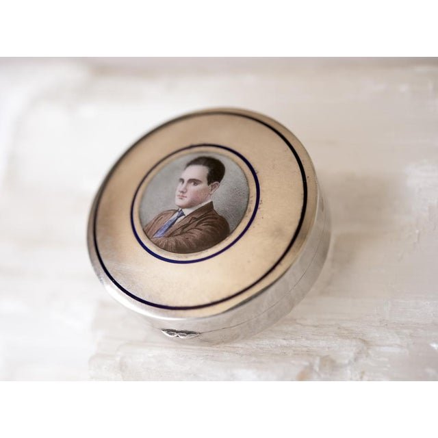 Antique Italian Silver Male Portrait Snuff Box - Image 3 of 6