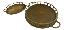 Image of Faux Bamboo Trays