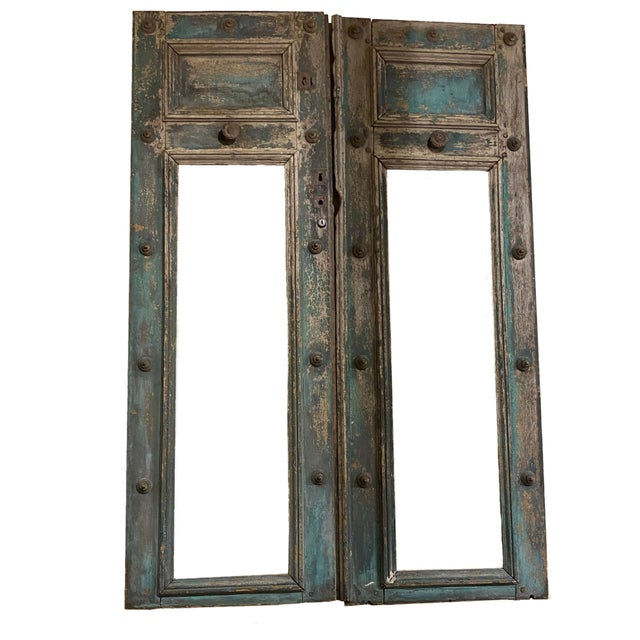 Blue 19th Century French Blue Doors - a Pair For Sale - Image 8 of 8