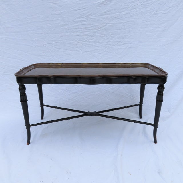 Antique Regency Style Brass Tray Table C1950 Made in Germany Elegant Design For Sale - Image 13 of 13