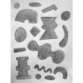 'Alphabet: Array of Grays' Drawing on Paper For Sale