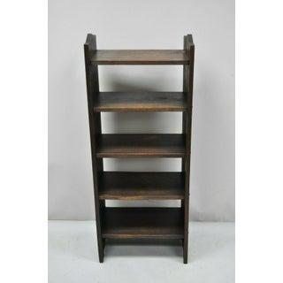 Antiques Arts & Crafts Mission Oak Carved Bookshelf Preview