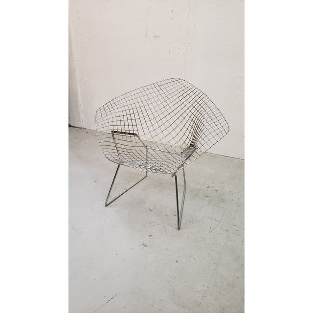 Knoll 1970s Vintage Bertoia Diamond Chair For Sale - Image 4 of 7