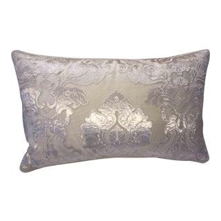 Stark Scalamandre Panne Velvet Sheer Overlay Bolster Pillow