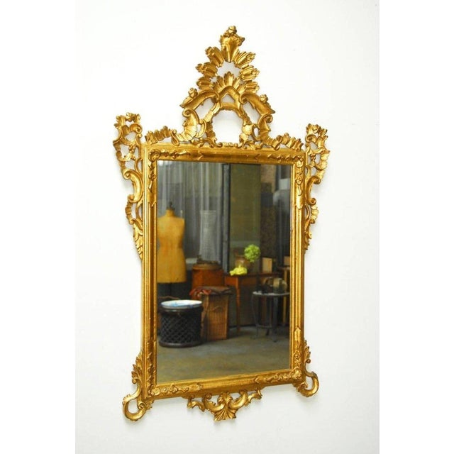 19th Century Italian Rococo Style Giltwood Mirror For Sale In San Francisco - Image 6 of 9
