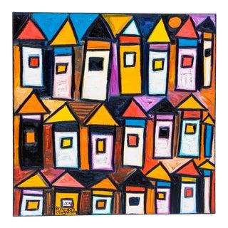 "Rahmon Olugunna ""Village at Night"" For Sale"