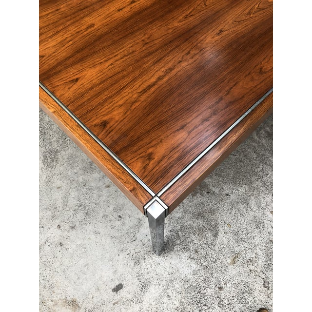 Knoll Rosewood & Chrome Coffee Table - Image 3 of 8