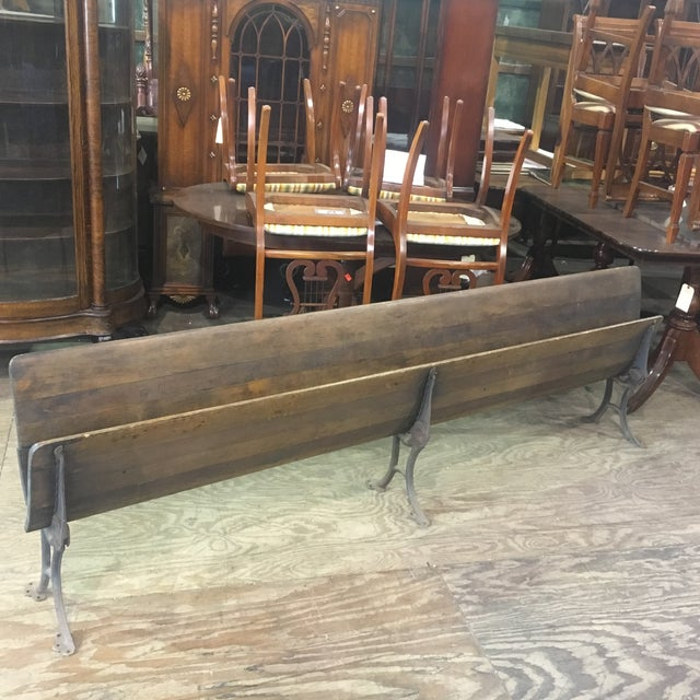 19th Century Antique Wood Folding School Bench - Image 8 of 9
