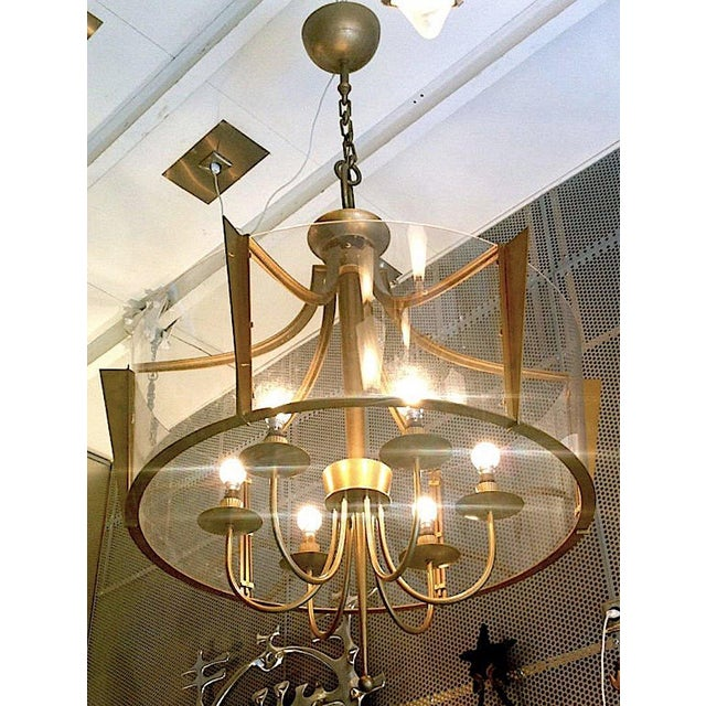 Raymond Subes Rare, Superb Neoclassic 1940s Chandelier.