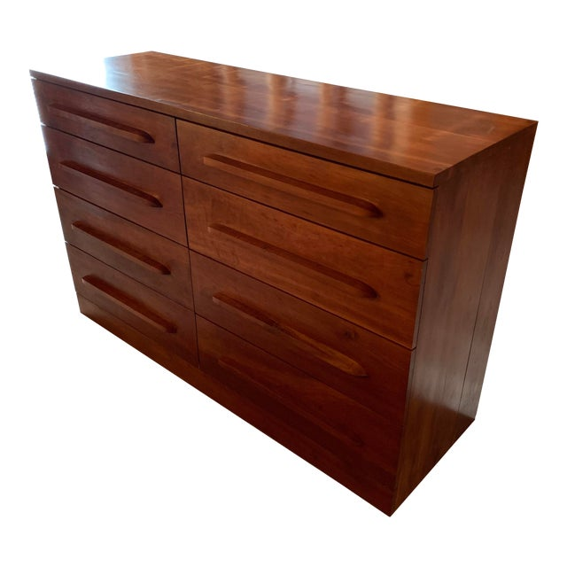 20th Century Cherry Eight Drawer Dresser For Sale