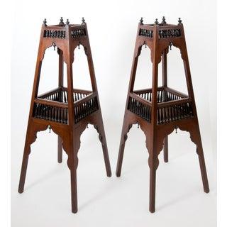Antique English Regency Mahogany and Ebonized Wood Etageres Preview
