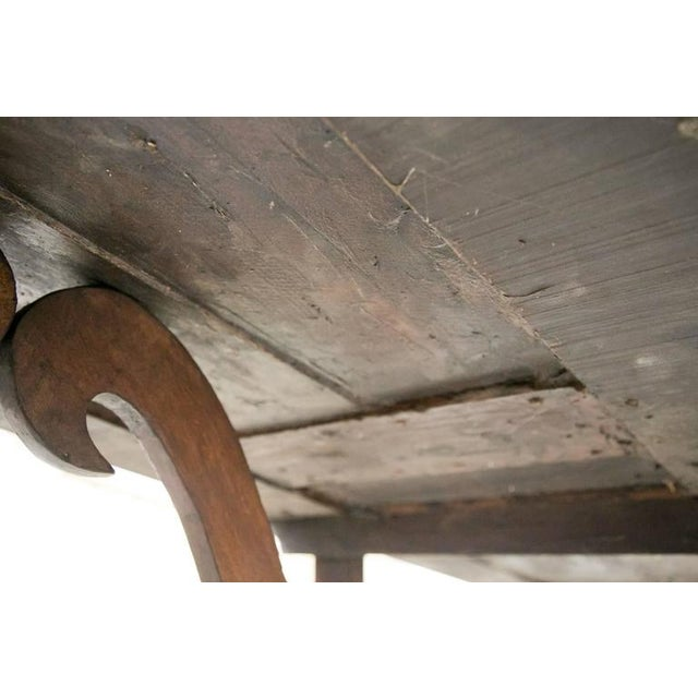 Early 19th Century Italian Baroque Style Walnut Trestle Dining Table For Sale - Image 9 of 10