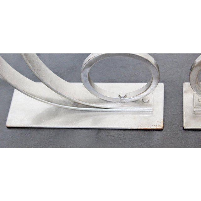 Mid-Century Modern Sculptural Aluminum Candleholders Studio Artist Haghiri - a Pair For Sale In Detroit - Image 6 of 12